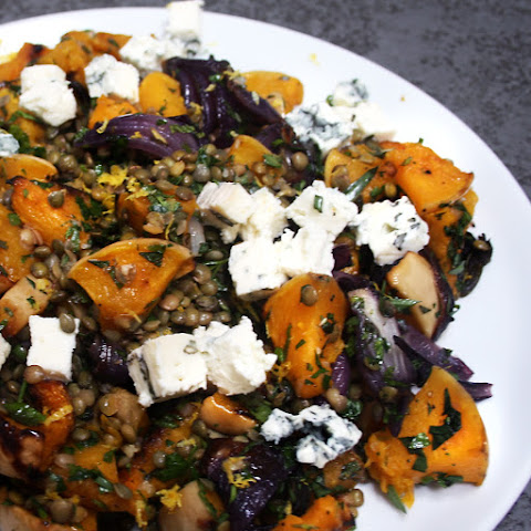 Roast Butternut Squash With Lentils And Dolcelatte