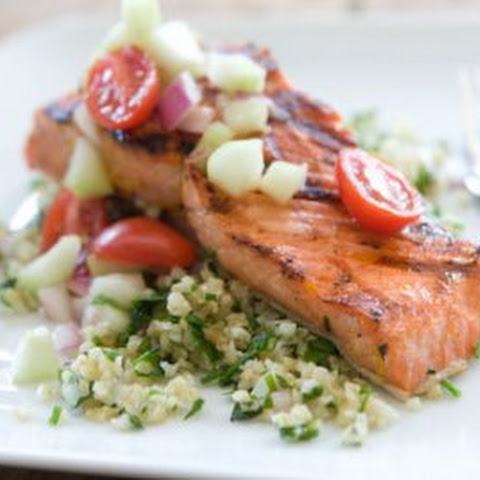 Citrus Marinated Grilled Salmon with Tabbouleh Salad