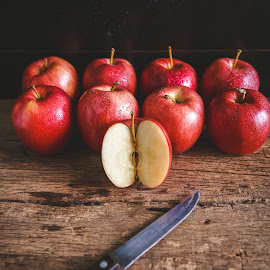Red Apples by TaTu Thai - Food & Drink Fruits & Vegetables ( plant, bamboo, weight, stilllife, wood, diet, paper, tropical, vietnamese, rustic, asian, farm, dieting, oldwood, fresh, care, dark, asia, light, knife, fruit, low key, vietnam, farming, lose, pure, nutrition, red, fineart, apple, food, background, traitao, basket, healthy, traicay, vitamin, natural )