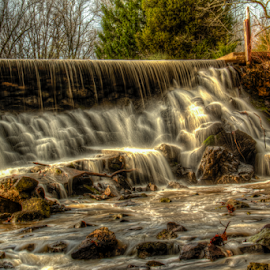 White Water Scape by Jerry Keefer - Landscapes Waterscapes ( water, dreamy, waterscape, waterfall, relaxation )