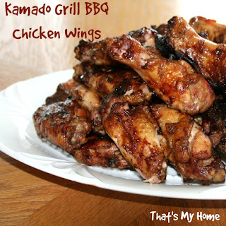 Kamado Grill BBQ Chicken Wings