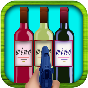 shoot wine bottles