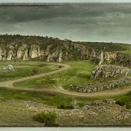 Dobrogea Gorges by Andrei Grososiu - Landscapes Travel ( old, mountain, sky, gorge, vintage, road )