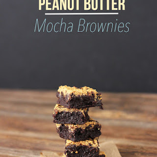 Salted Peanut Butter Mocha Brownies