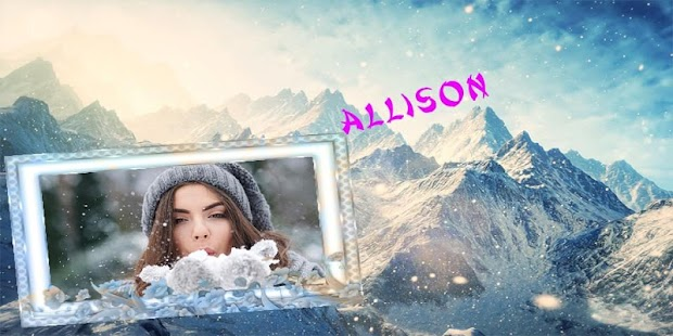 Snow Motion Photo Frame - screenshot
