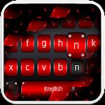 Black Red Metal Keyboard Icon