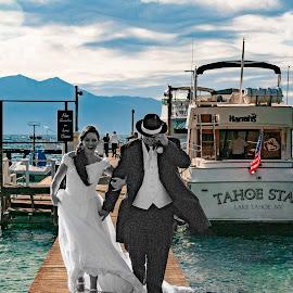 No Gambling on Lake Tahoe, Weddings OK by Jeff Yarbrough - Wedding Bride & Groom ( missing kw 7 )