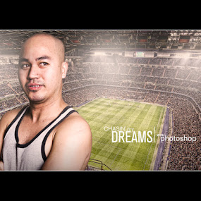 Andy's Dream by Elmer Tendero - Digital Art People ( studio, football, dreams, oval, people, photography, composite, photoshop )