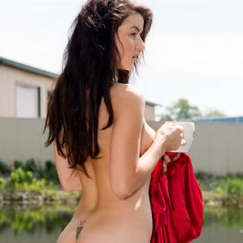 by Brian Sadowski - Nudes & Boudoir Artistic Nude ( glamour, fashion, sexy, red )