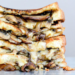 Mushroom, Onion and Stout Grilled Cheese Sandwiches