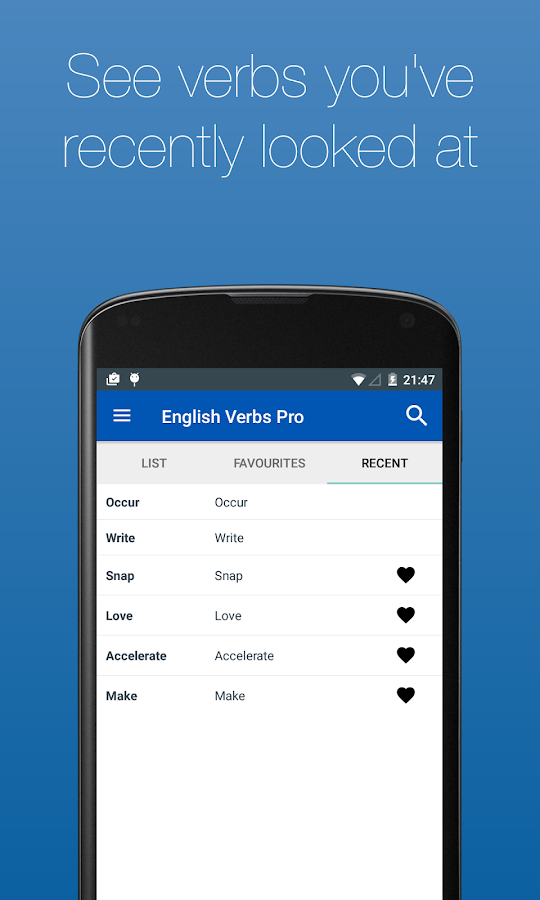 English Verb Conjugator Pro Screenshot 6