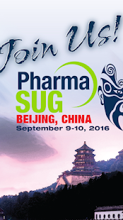 PharmaSUG China 2016 - screenshot
