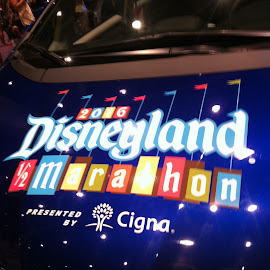 Disneyland 1/2 marathon car by Kat Tuck - Digital Art Places ( car, disneyland, double dumbo, marathon )