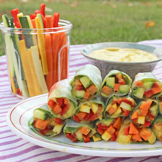 Fresh Spring Rolls with Mango Dipping Sauce