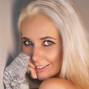 eyes by Gawie van der Walt - People Portraits of Women ( sexy, gorgeous, shoulder, beauty, eyes,  )