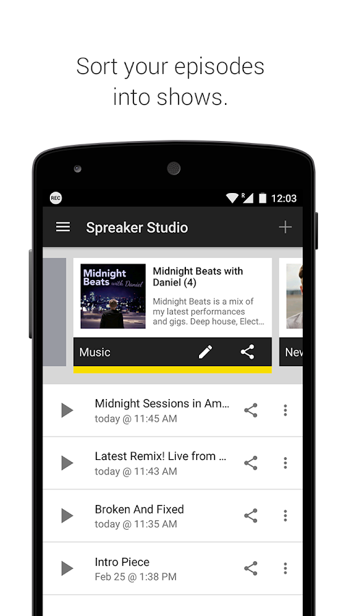 Spreaker Studio Screenshot 3