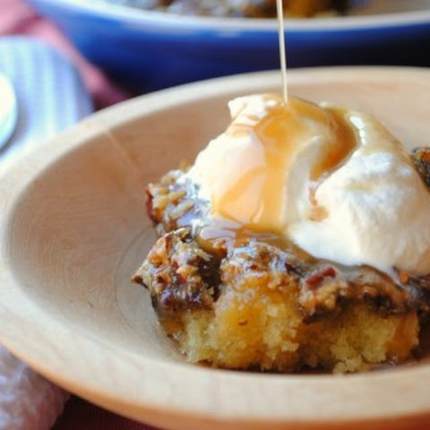 Sticky Toffee Pudding with Toasted Pecans