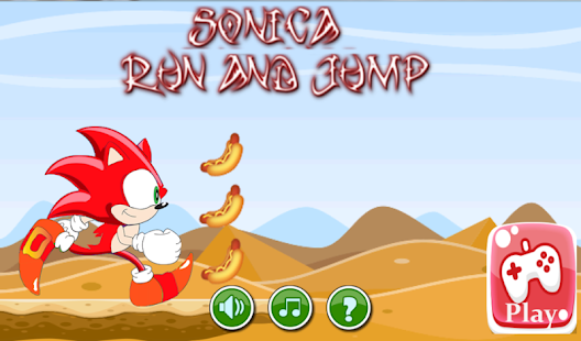 Sonica Run and Jump Free Game - screenshot