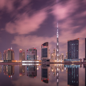 Burj Khalifa Down town by Walid Ahmad - City,  Street & Park  Night ( mydubai, dubai, uae, night, travel, burj khalifa )