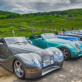 The Morgans by Jim Keating - Transportation Automobiles ( automobile, morgan, car, antrim, automobiles )