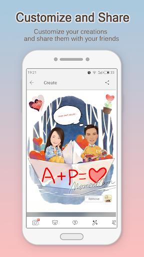 MomentCam Cartoons & Stickers screenshot 3