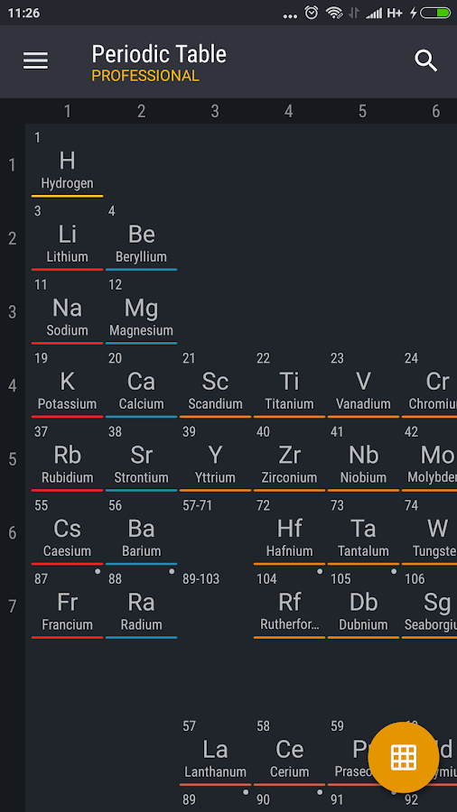 Periodic Table 2017 Pro Screenshot 0