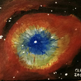 Helix Nebula by Carlos Gramajo - Painting All Painting ( nebula, nebulosity, deep space, helix nebula, space )