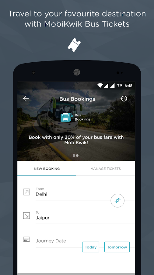 Recharge, Bills, Wallet, Bus Screenshot 4