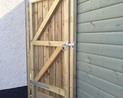 inside view of custom build gate in devon | Paul Jackson Landscaping & Fencing