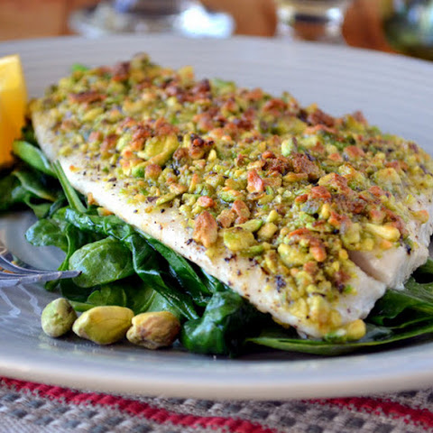 Pistachio Crusted Flounder
