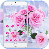 Pink Rose Love Theme APK for Bluestacks