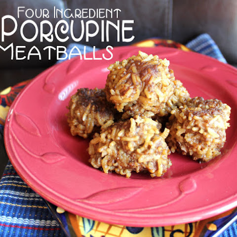 Four Ingredient Porcupine Meatballs