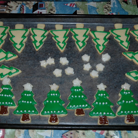 Christmas Tree Vanilla Sugar Cookies