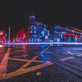 Dublin by Rafał Wójcicki - City,  Street & Park  Night ( rafalwojcicki, dublin, night, cityscape, city )