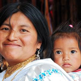 With mum by Tomasz Budziak - People Family ( ecuador, family, baby, portraits, mum )