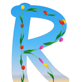 Alphabet - R by Dipali S - Typography Single Letters ( headline, graphic, ornate, decorative, illustration, tulips, type, spring, decor, calligraphy, quote, inscription, place, note, classic, typographic, template, element, icon, text, creative, decoration, letter, font, art, advertisement, calligraphic, message, sign, frame, r, background, artistic, alphabet, typography, english, design )