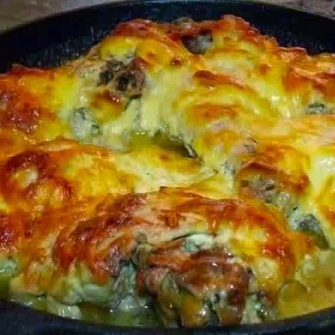 Chicken With Garlic And Cheese