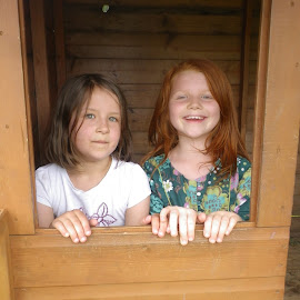 In the Wendy House by Ingrid Anderson-Riley - Babies & Children Children Candids