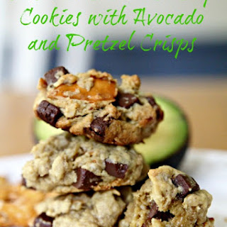 Oatmeal Chocolate Chip Cookies with Avocado and Pretzel Crisps