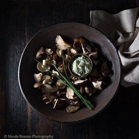 Roasted Mushrooms with Chive Garlic Butter