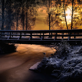 The bridge by Micke Lindblå - Landscapes Waterscapes ( #bridge #sweden )