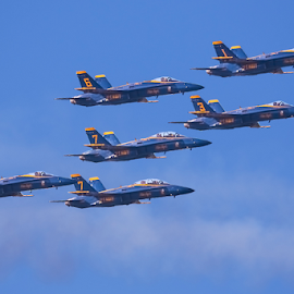 Blue Angels 843~ 2 by Raphael RaCcoon - Transportation Airplanes