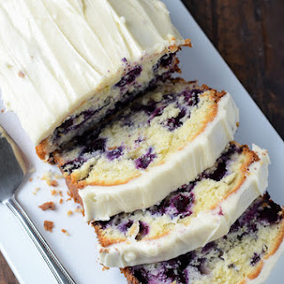 Blueberry Lime Cream Cheese Pound Cake