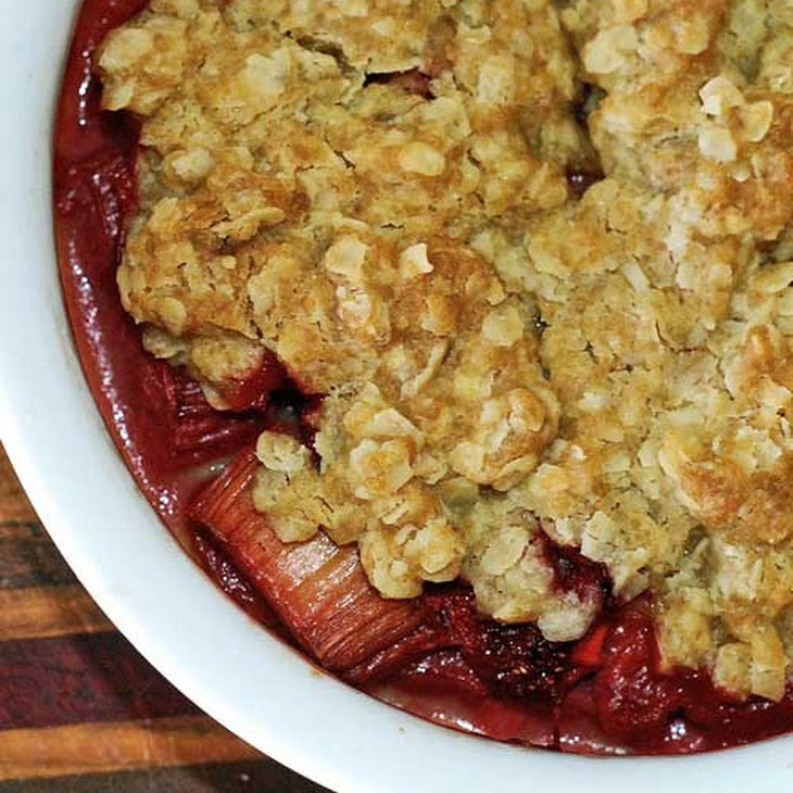 Strawberry Rhubarb Crisp Recipe | Yummly