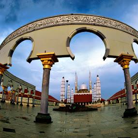 Great Mosque... by Imam Fauzi - City,  Street & Park  Vistas