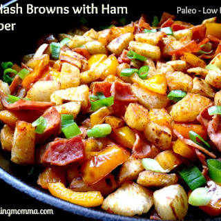 Yuca Hash Browns with Ham and Pepper - Paleo + Low FODMAP