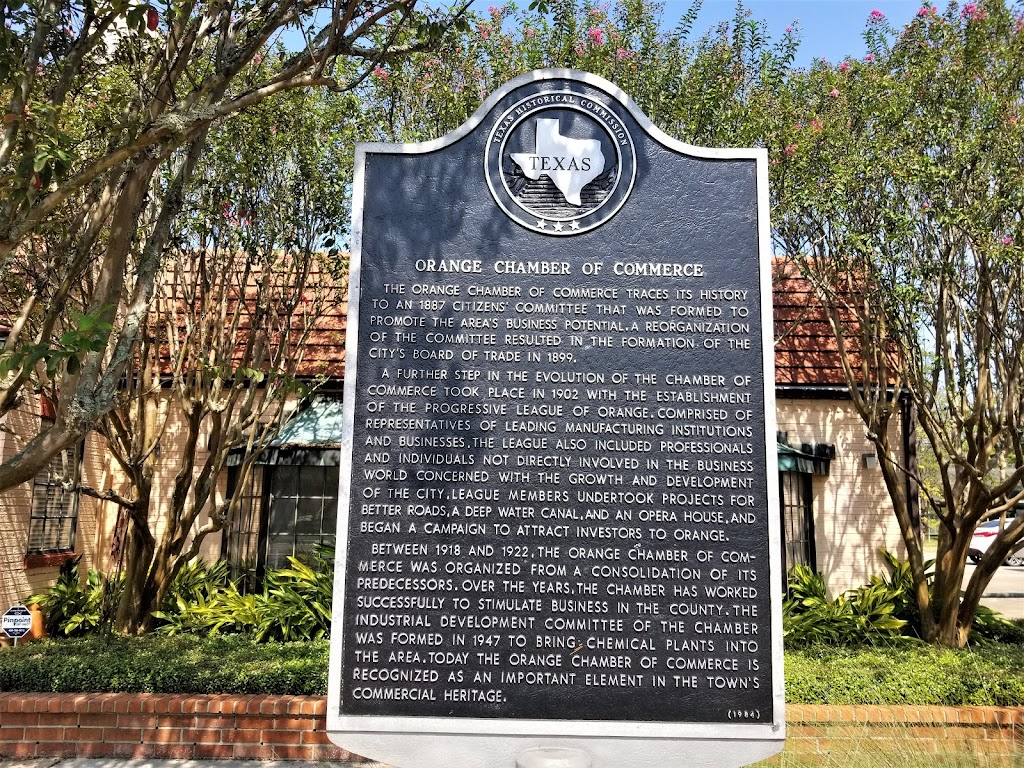 t The Orange Chamber of Commerce traces its history to an 1887 citizens' committee that was formed to promote the area's business potential. A reorganization of the committee resulted in the ...