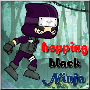 Hopping Black Ninja