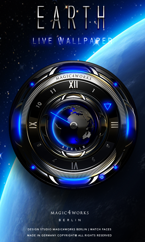 HD Analog Clock Bundle LWP 4 Screenshot 2