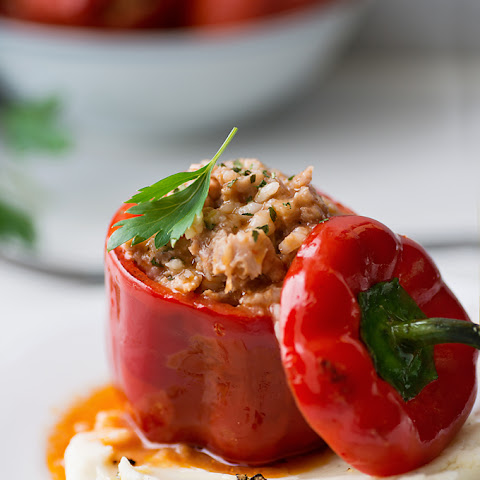 Beef and Rice Stuffed Peppers